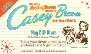 Casey Brewer Wedding Shower Invitation